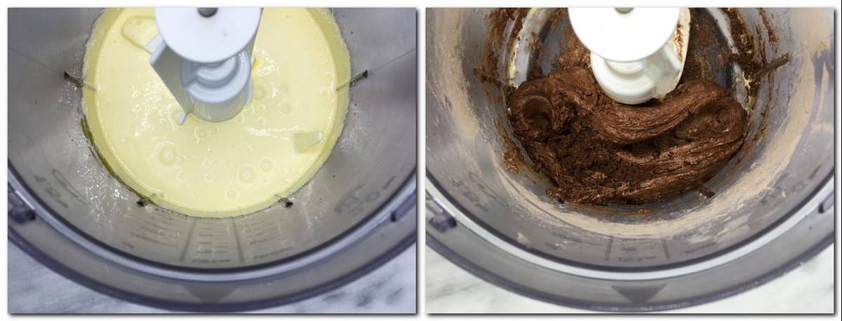 Photo 1: Egg yolks mixture in a bowlPhoto 2: Chocolate preparation in a bowl
