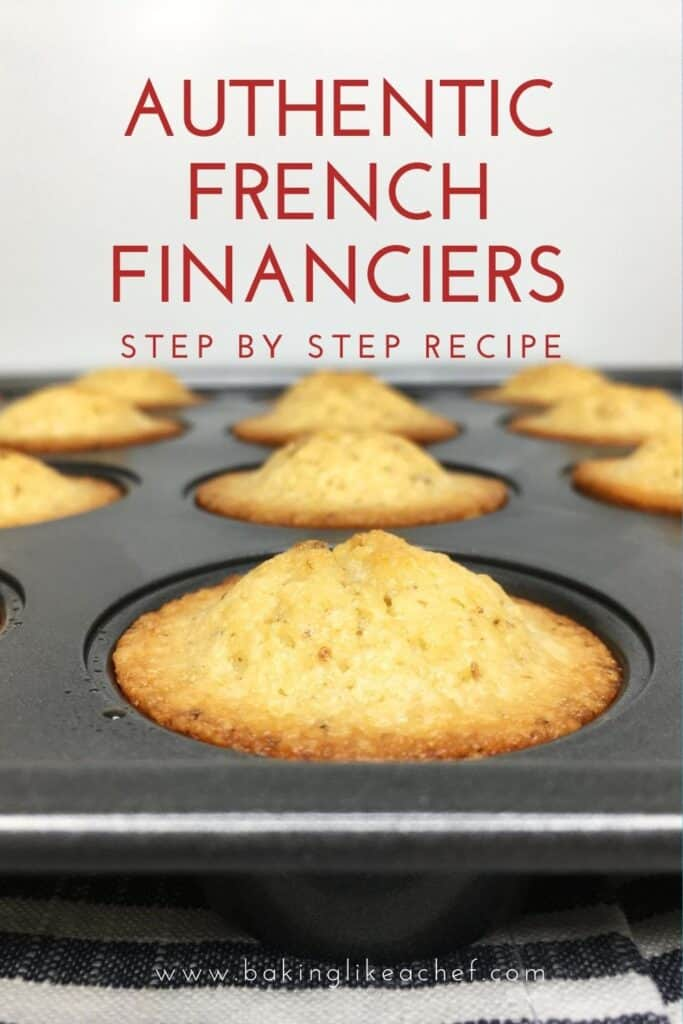 Brown butter French financiers in a cake mold