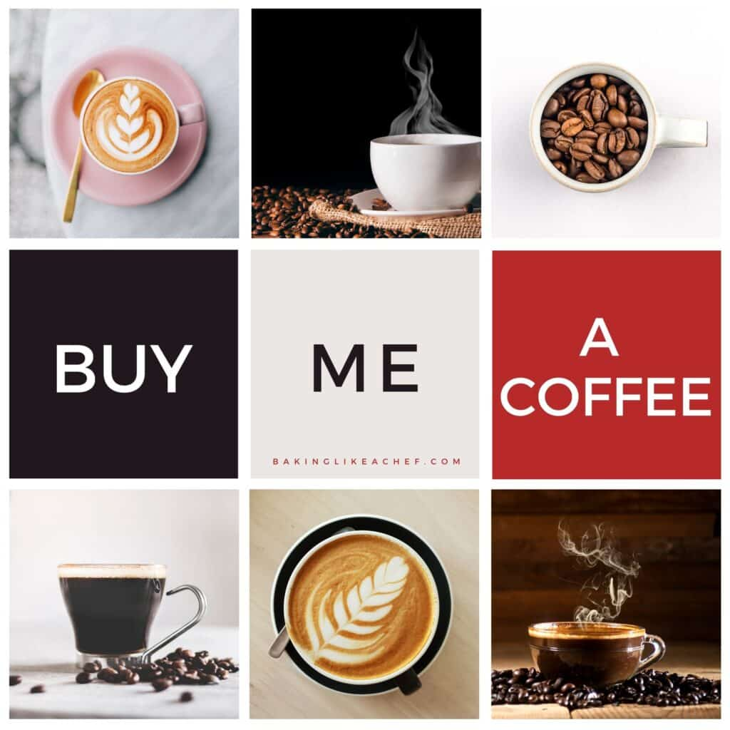 A collage of coffee pictures