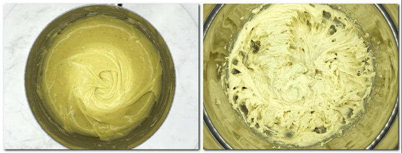 Photo 7: Cream in a bowl is ready for chilling Photo 8: Ready mousseline cream in a bowl