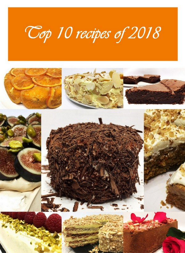 Top 10 recipes of 2018 represent the best dessert recipes of my blog for the past year. This list is based on the web site data analysis and is made by you, my readers and followers. Thank you! #top10 #recipes #bestrecipes #desserts #sweets #pastry #cake   Full recipes at www.bakinglikeachef.com